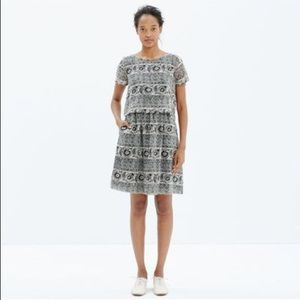 Madewell Silk Two-Piece Dress In Woodcut Paisley
